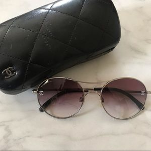 CHANEL 4190 TQ Aviator Sunglasses